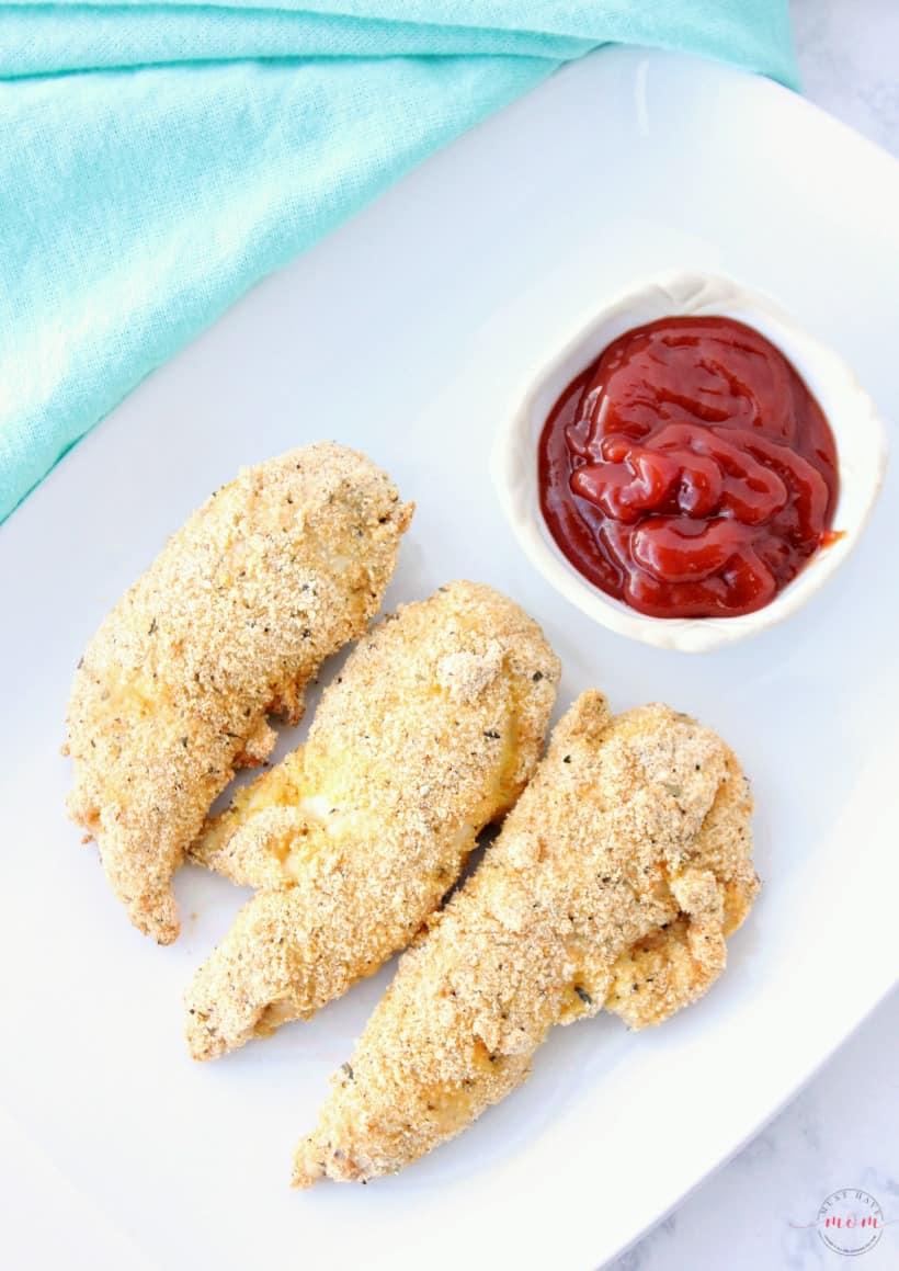 gluten free chicken strips made in an air fryer