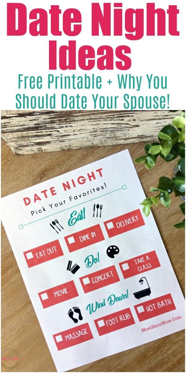 free printable date night ideas sheet