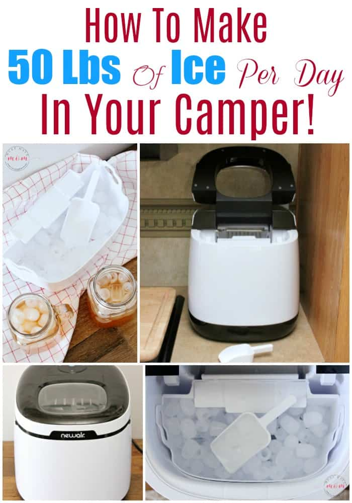 How to make 50 pounds of ice per DAY in your camper! Best countertop ice maker / RV ice maker for camping.