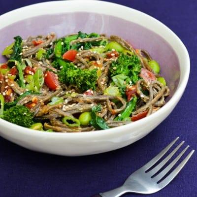 Broccoli Rabe Soba Noodle Bowl Recipe