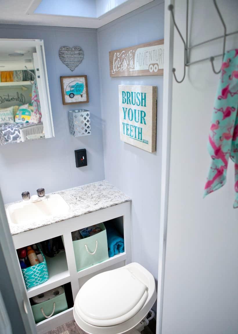 rv bathroom makeover