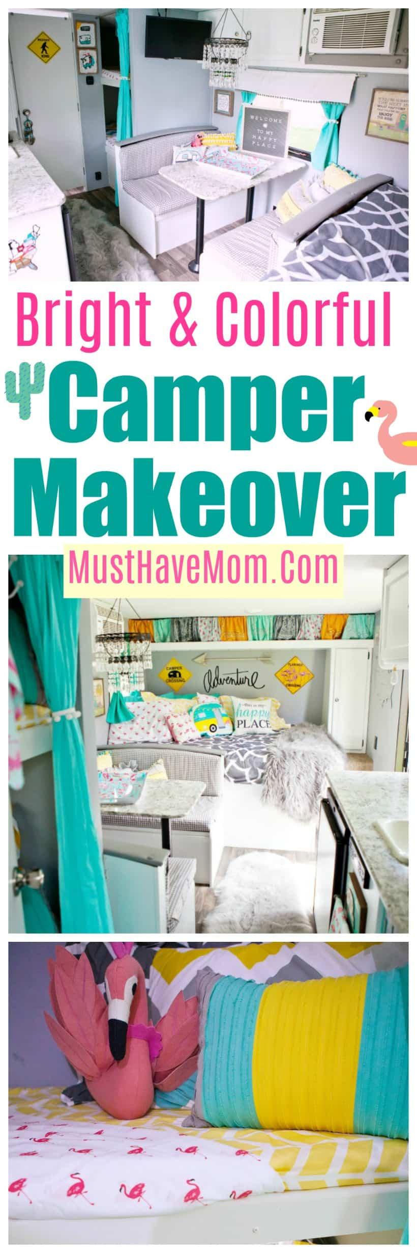 Colorful camper makeover