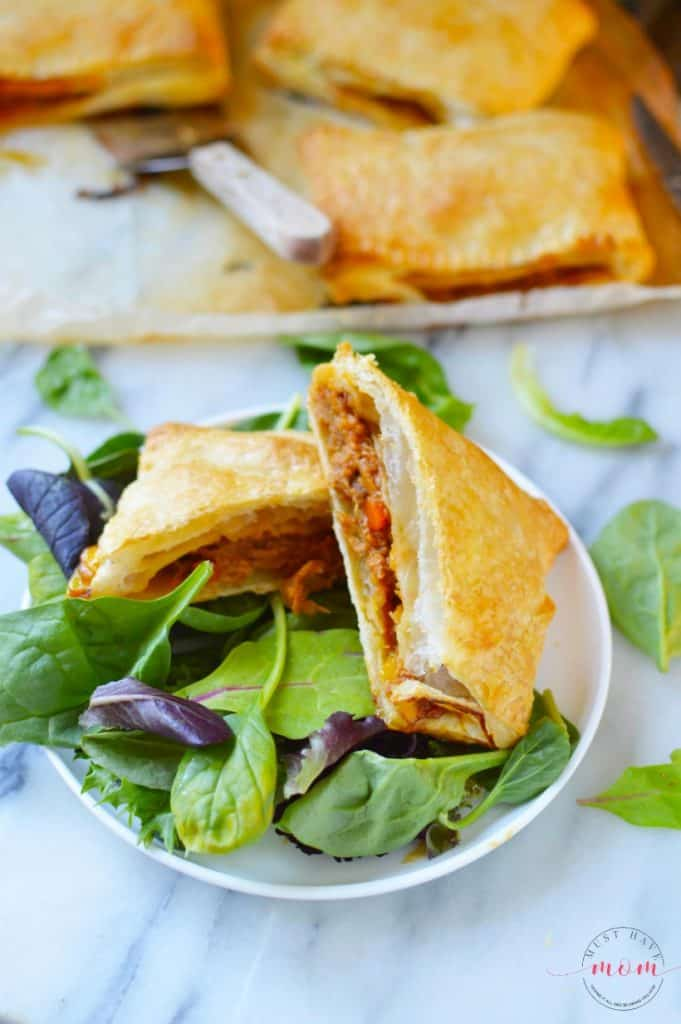 pulled pork and mango pasties