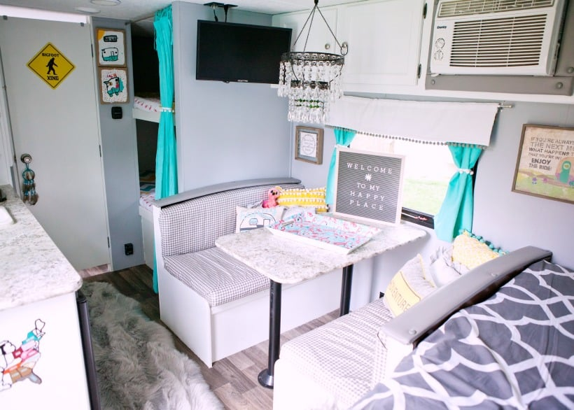 Camper dinette area