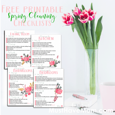Free Spring Cleaning Checklist Printables – Room by Room!