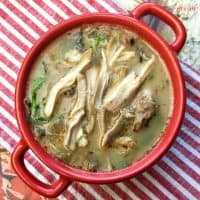 chicken florentine soup bowl