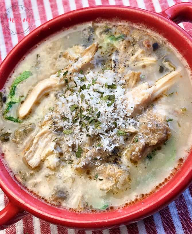 chicken florentine soup