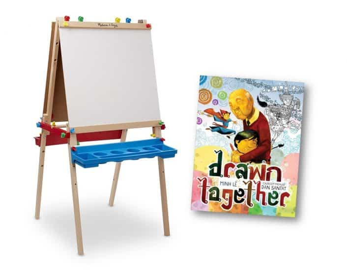 Drawn Together is one of the newest books from Disney Hyperion. A wonderful book with a message about how grandfather and grandson communicate with art.