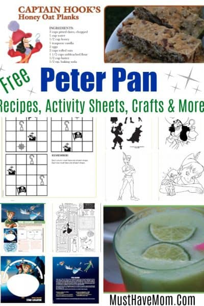 Free Peter Pan movie printables