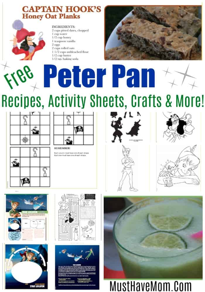 Free Peter Pan movie printables