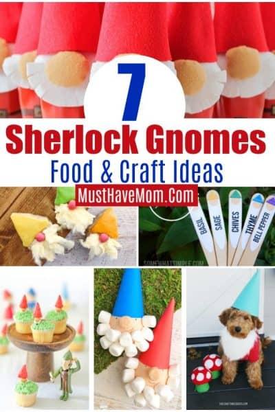 7 Sherlock Gnomes food and craft ideas