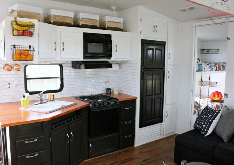 RV kitchen makeover after