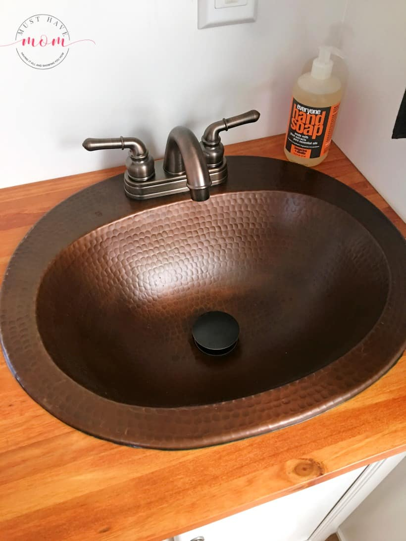 Copper sink in RV