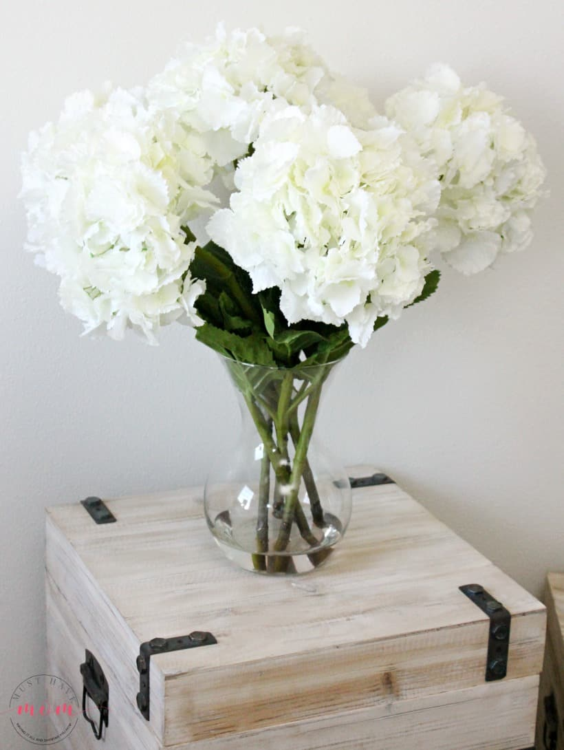 gardenia's in a vase