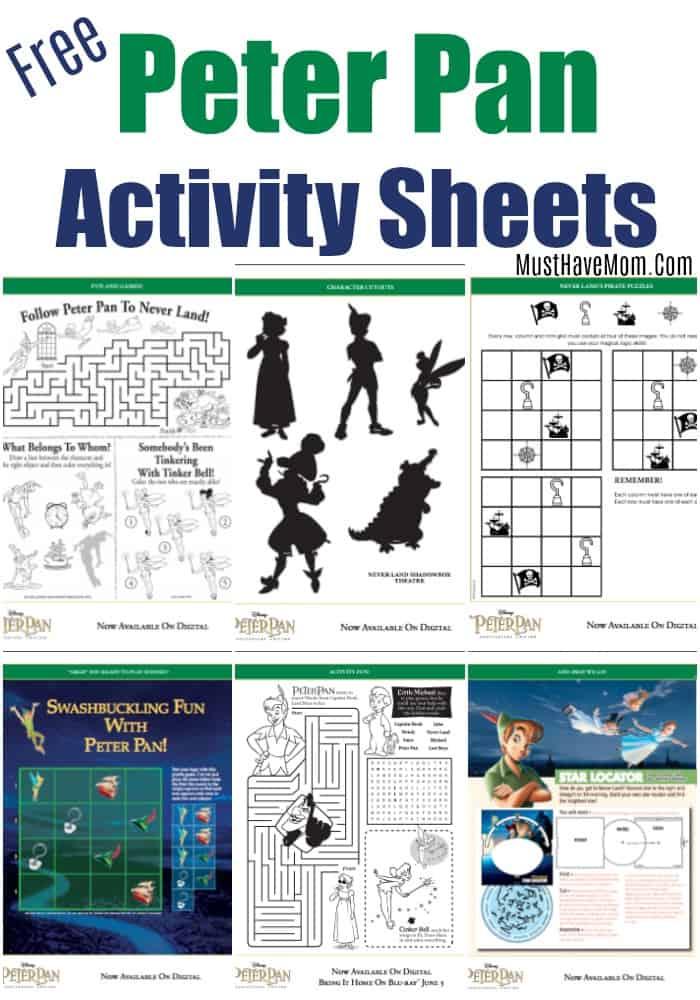 Peter Pan activity sheets