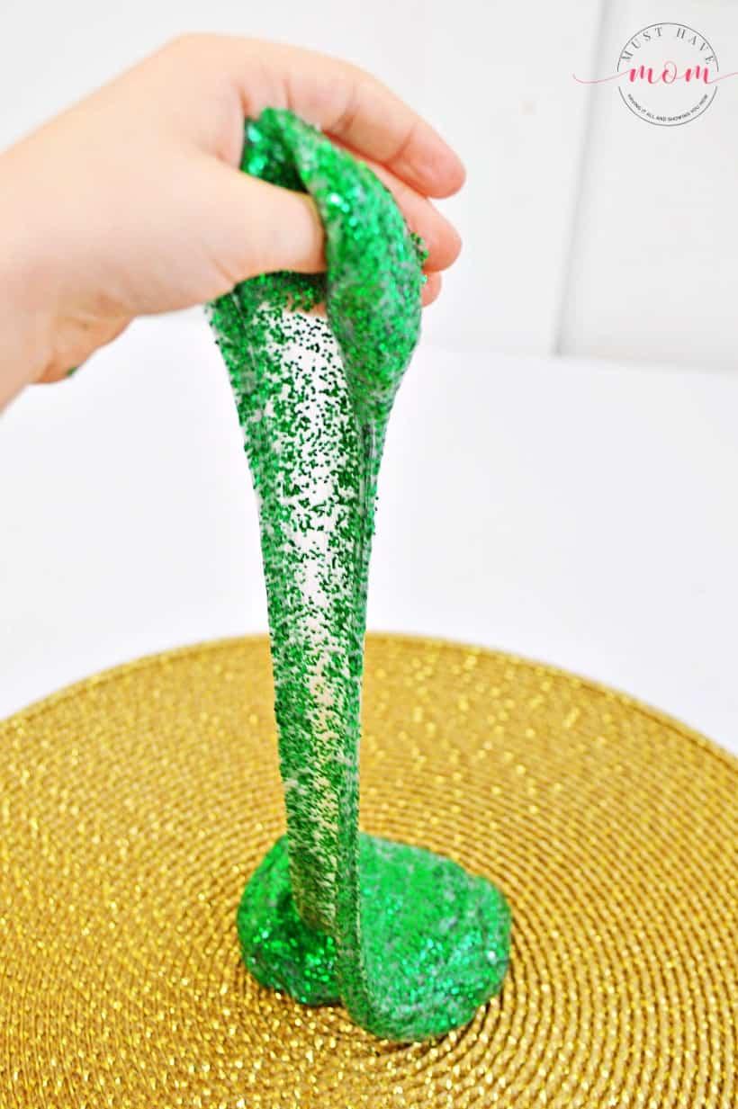 stretchy glitter slime