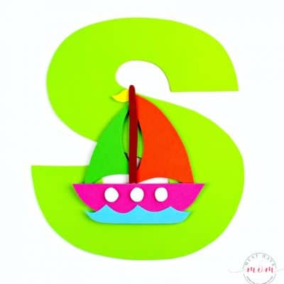 S is for Sailboat Letter Craft {Free Printables}