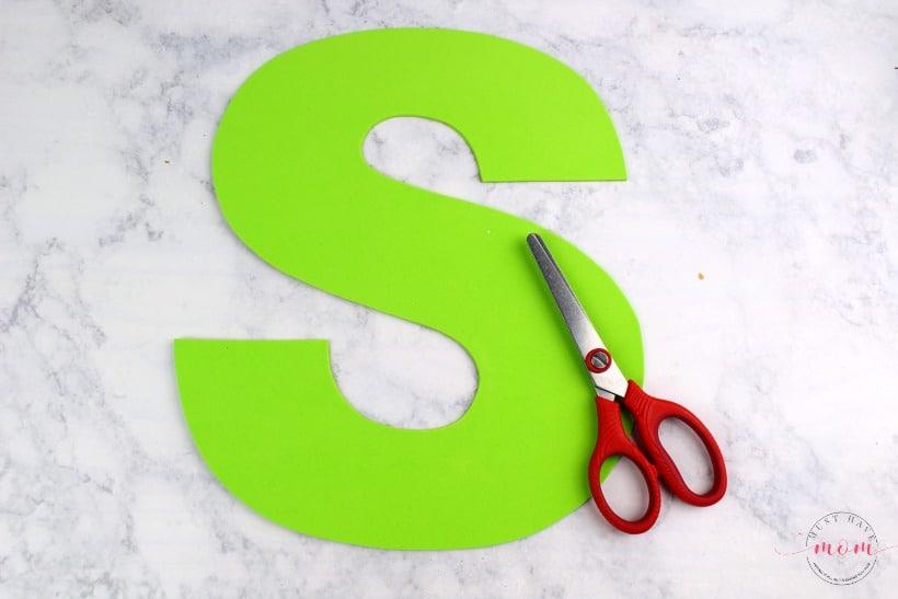 foam letter S
