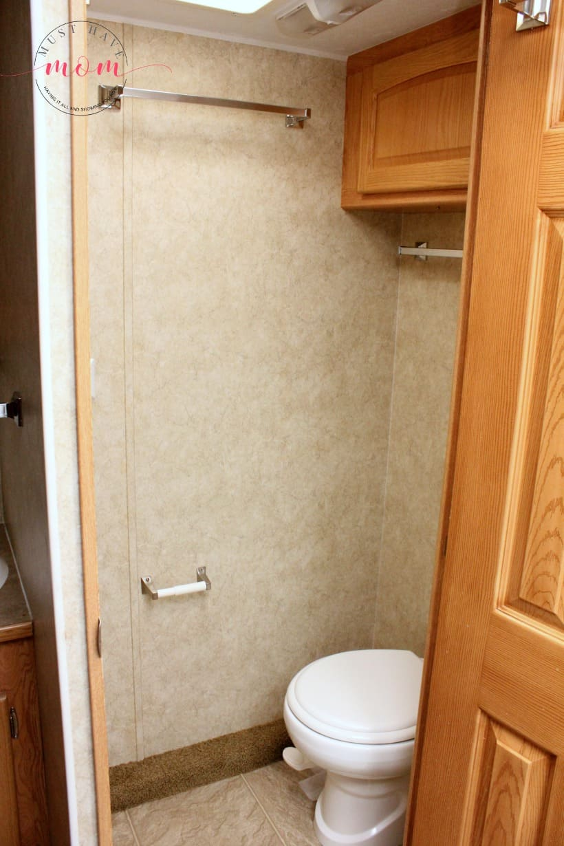RV bathroom before