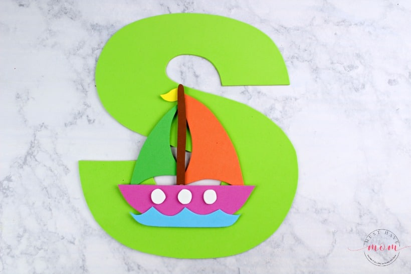 s is for sailboat craft