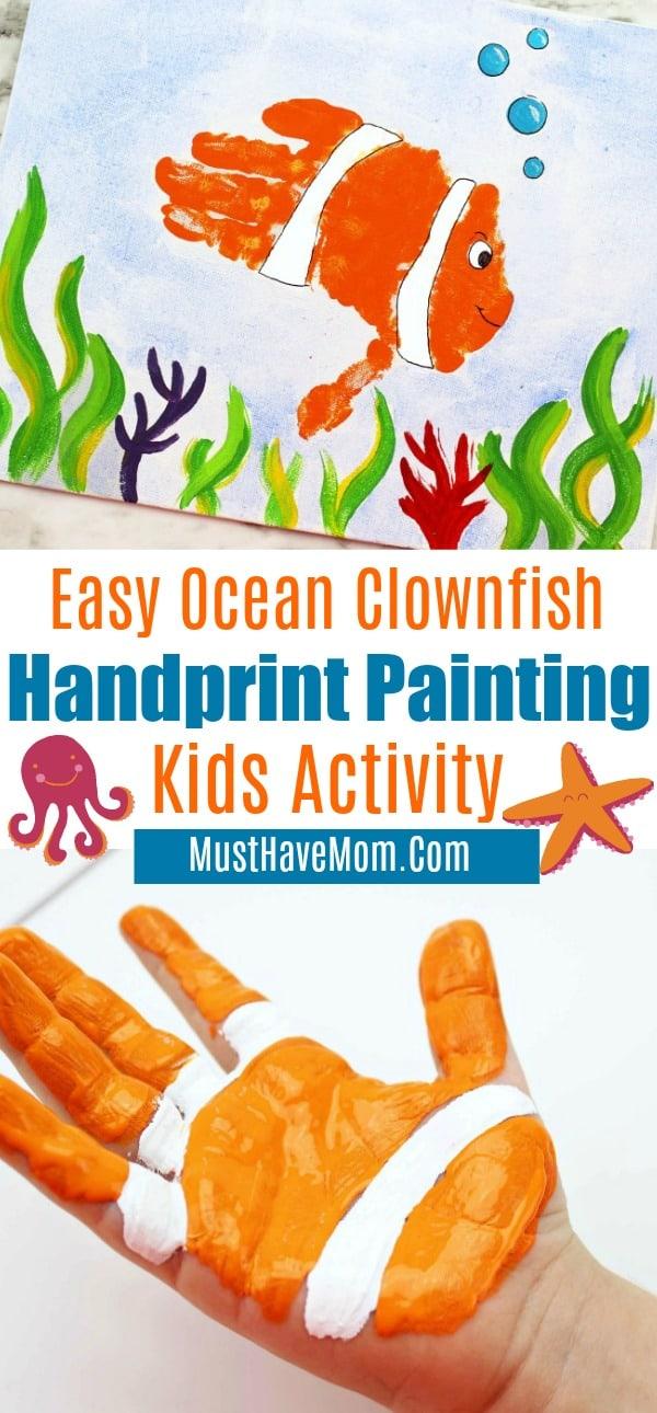 handprint painting activity