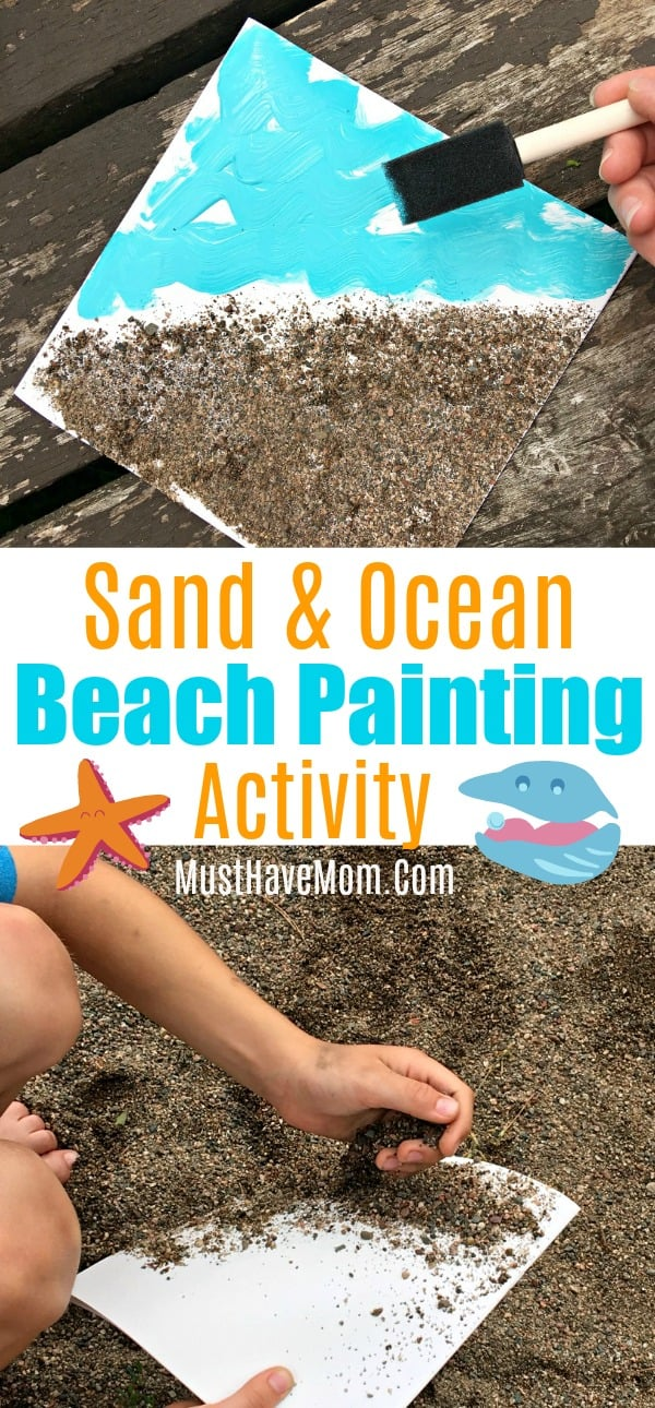 Sand and Ocean Beach Painting
