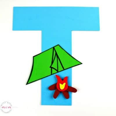 T is for Tent Letter Craft {Free Printables}