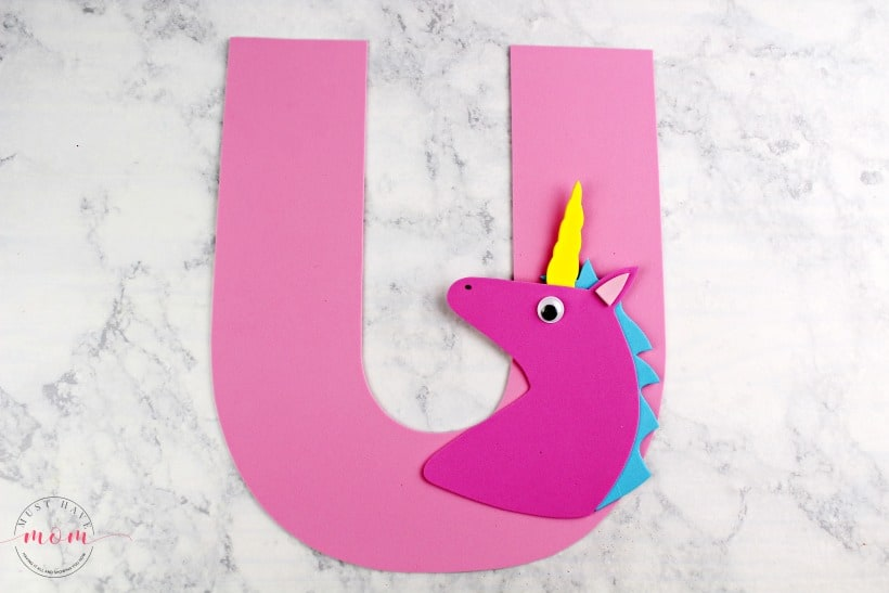 easy unicorn letter craft