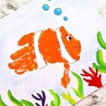 Ocean Clownfish Handprint Art Project