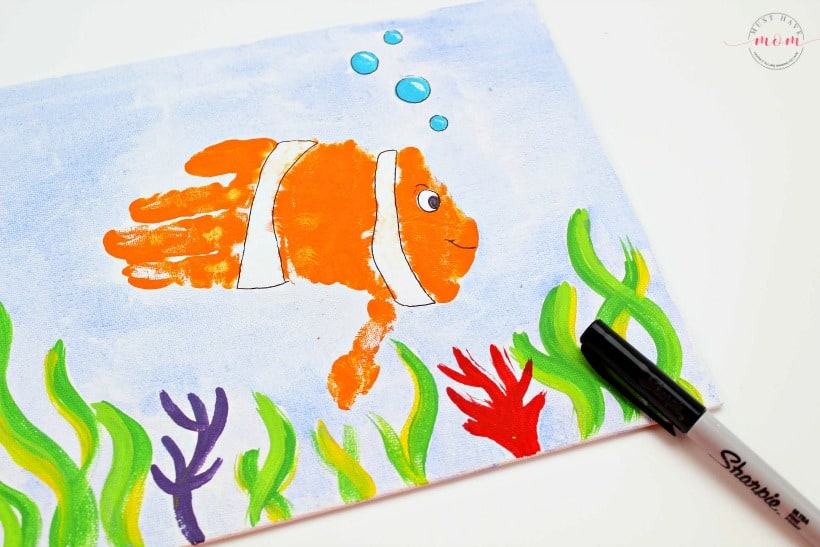 handprint fish art