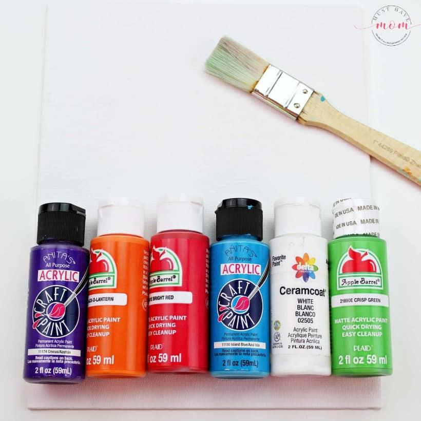 handprint painting supplies