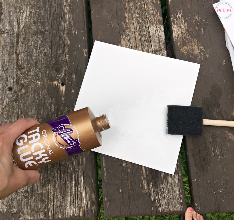 gluing sand to paper