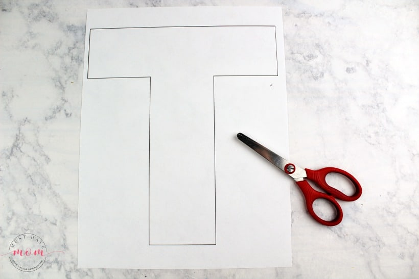 letter T printable template