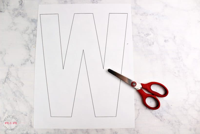 letter W craft template