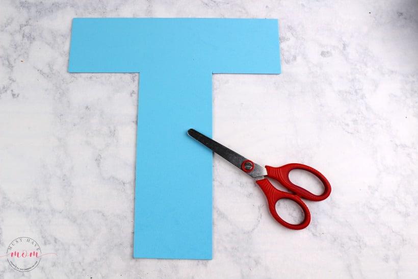 foam letter T