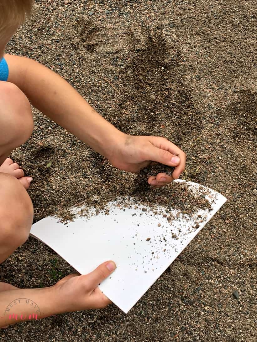 Add sand to paper