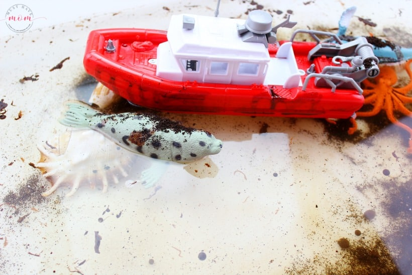 Dirty ocean water sensory play