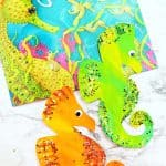 Seahorse Paper Plates Craft Activity Paired With A Book!