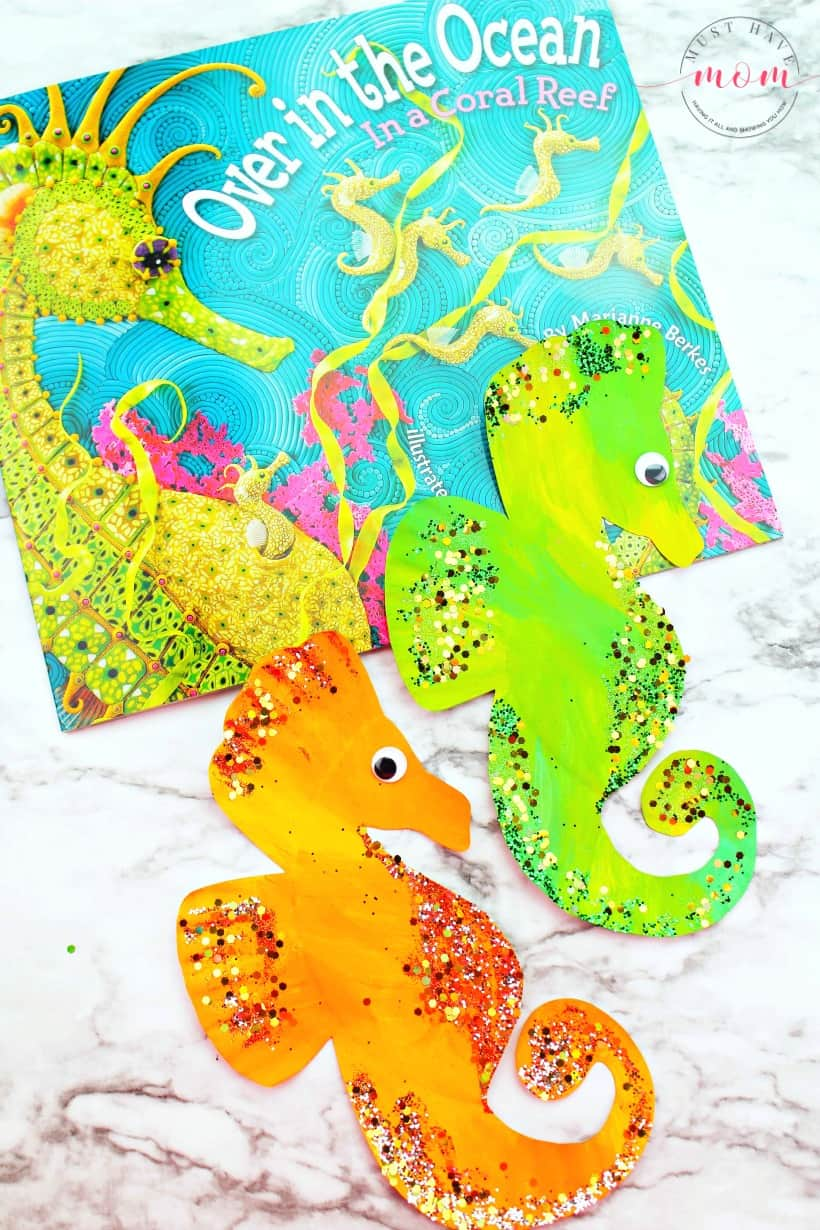 Seahorse paper plate crafts