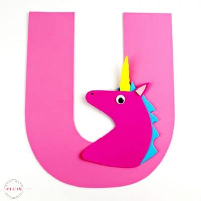 U is for Unicorn Letter Craft {Free Printables}