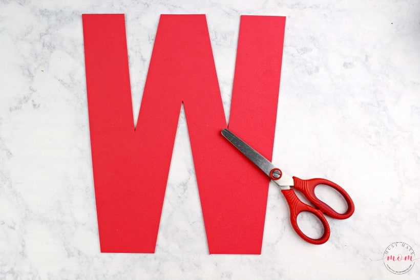letter W foam alphabet craft