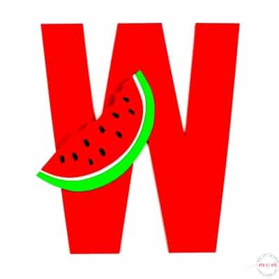 W is for Watermelon Letter Craft {Free Printables}