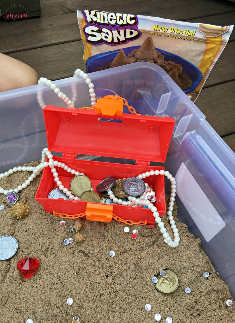 treasure box for pirate sensory bin
