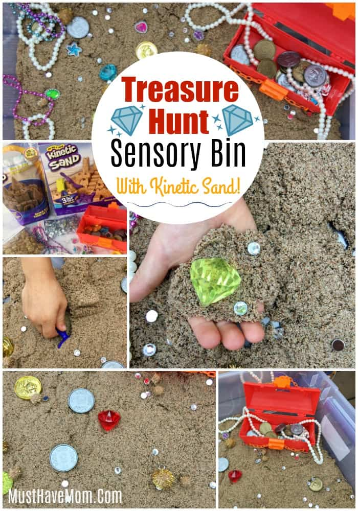 pirate treasure hunt sensory bin