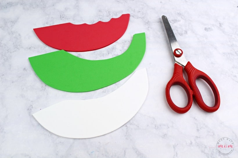 watermelon craft cutout