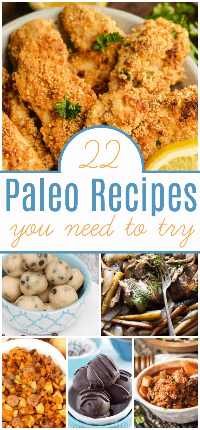 Trying to come up with Paleo friendly meals for breakfast, lunch, and dinner is a challenge. Here's help, a list of 22 delicious Paleo recipes to try.