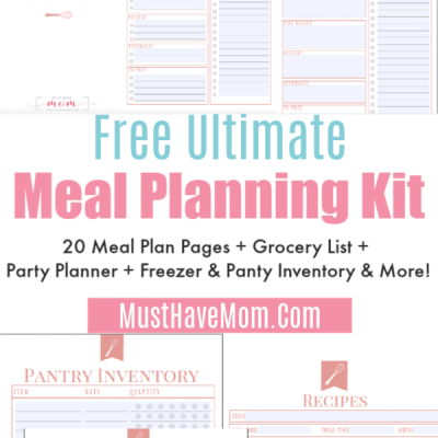 Free Printable Meal Planner + Join The Clean Eating Menu Plan Challenge!