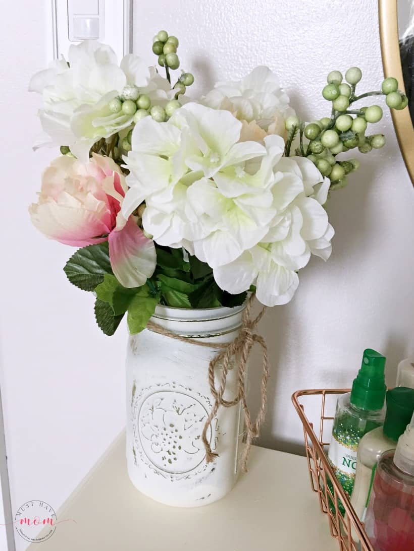 chalk paint mason jar vase