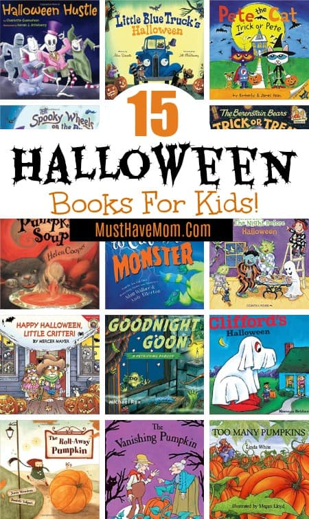 15 Halloween books for kids. Toddler, Preschool and Elementary ages