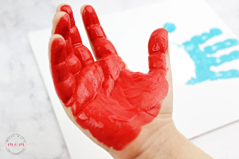 handprint painted